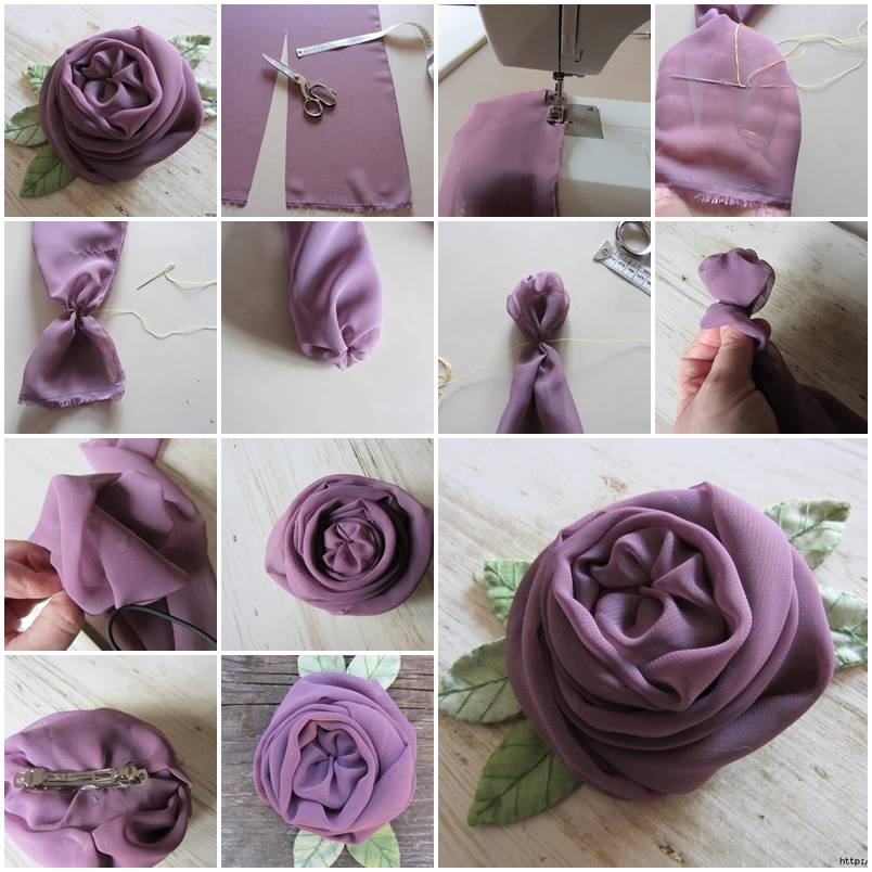 DIY Beautiful Chiffon English Rose - photo#43