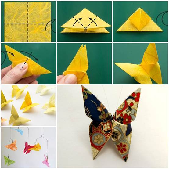Diy beautiful origami butterfly for How to decorate a paper butterfly