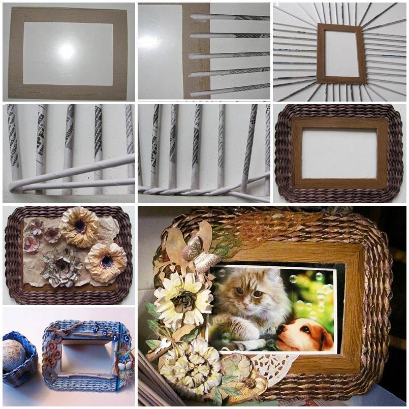 Valentine Gift Idea 2 Home Decor Frame Layout: DIY Beautiful Woven Paper Photo Frame