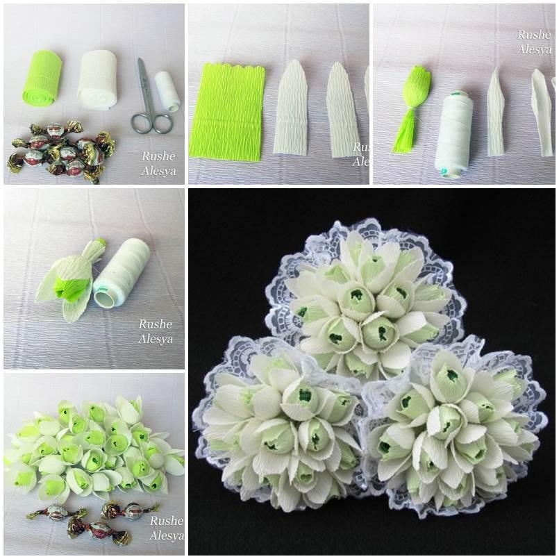 DIY Chocolate Snowdrops Bouquet 1