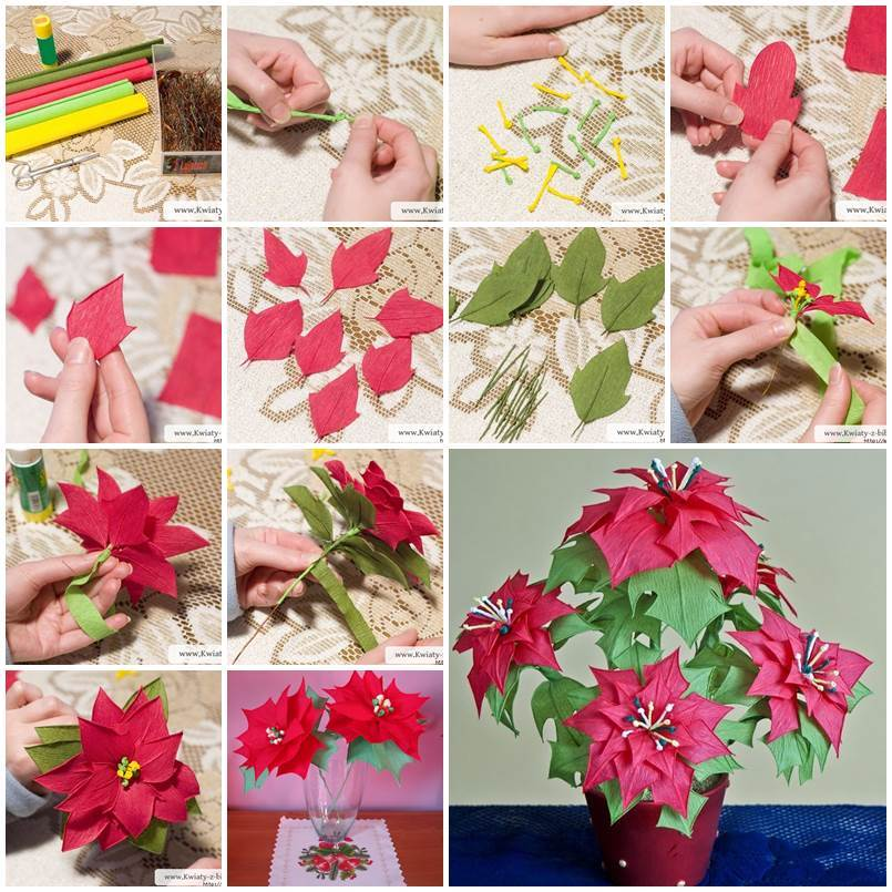 Paper flowers archives page 7 of 10 i creative ideas diy crepe paper poinsettia the christmas star mightylinksfo