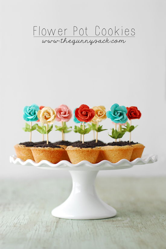 Diy Cute Flower Pot Cookies