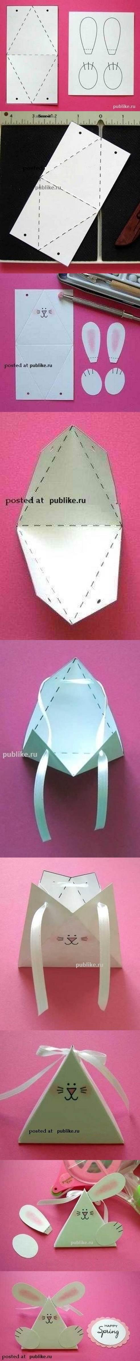 DIY Cute Paper Bunny Gift Box 2