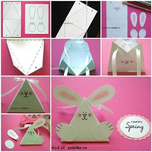 DIY Cute Paper Bunny Gift Box