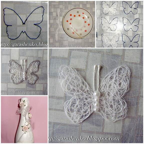 DIY Delicate Thread Butterfly 3
