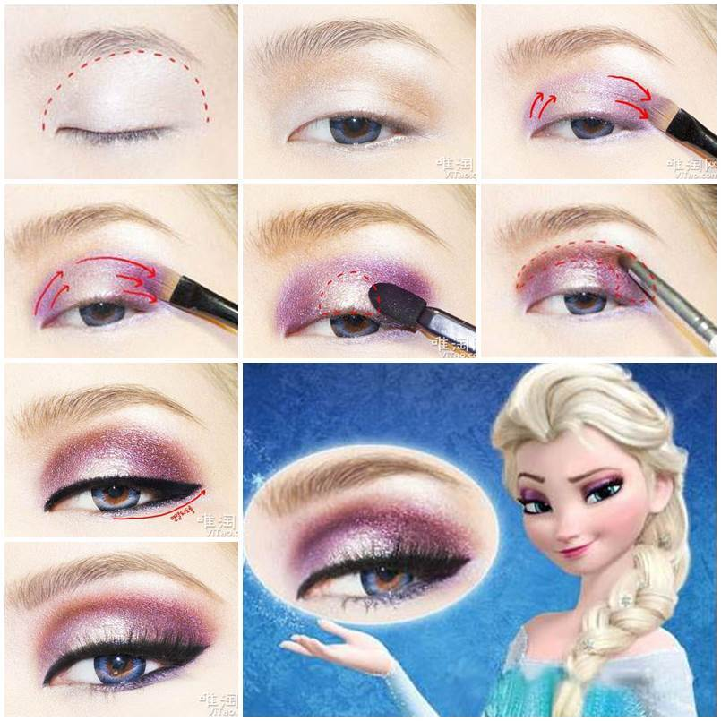 DIY Disney's Frozen Elsa Eyeshadow
