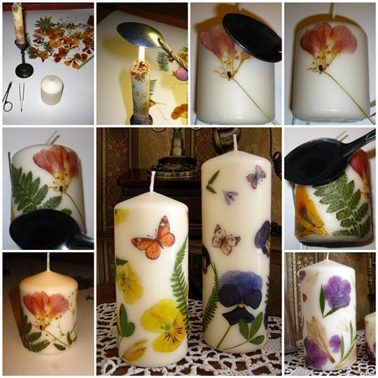 DIY Dried Flowers Decorated Candles 3