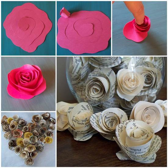 DIY Easy Paper Rose - photo#14