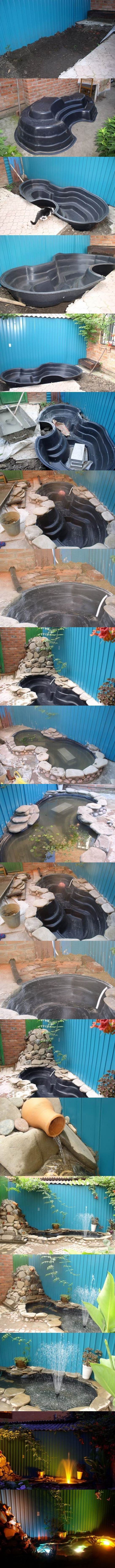 DIY Easy Pond in Backyard