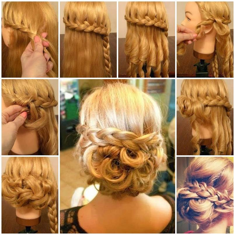Diy Braided Hairstyles: DIY Elegant Braided Low Bun Hairstyle