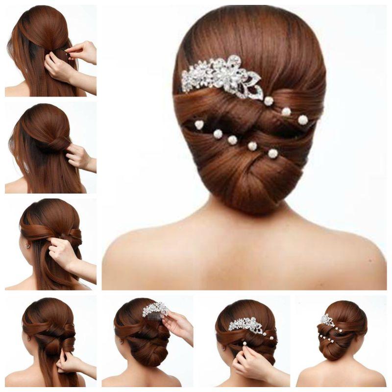 Diy Elegant Bridal Hairstyle