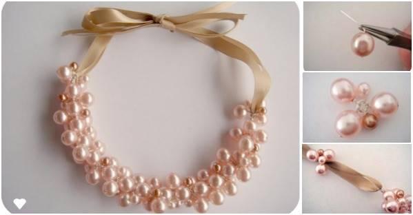 3a16ba86bf3a DIY Elegant Pearl Cluster Necklace