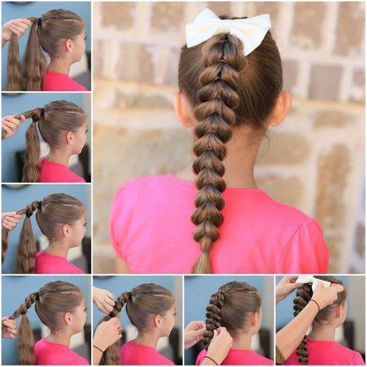 DIY Inverted Hearts Ponytail Hairstyle