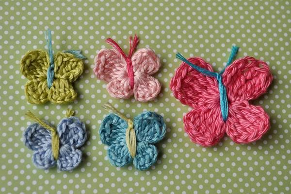 DIY Lovely Colorful Crochet Butterflies --> How To Crochet A Butterfly
