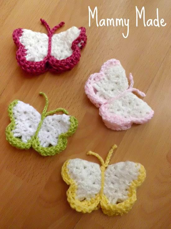 DIY Lovely Colorful Crochet Butterflies --> Crochet 3D Butterfly