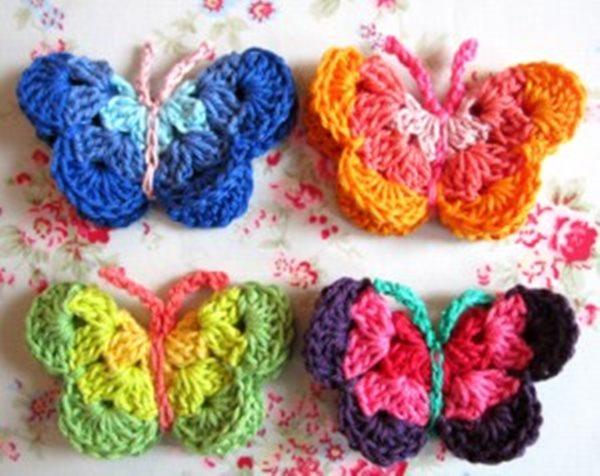 DIY Lovely Colorful Crochet Butterflies --> Crochet Butterflies PDF Pattern