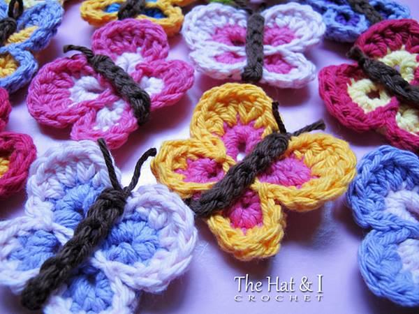 DIY Lovely Colorful Crochet Butterflies --> Free Bountiful Butterflies Crochet Pattern