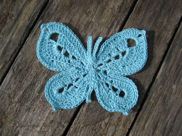 DIY Lovely Colorful Crochet Butterflies --> Free Crochet Butterfly Pattern