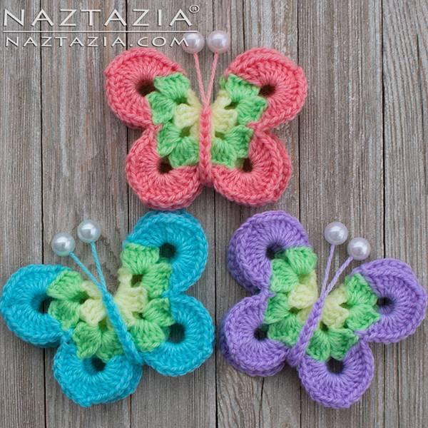 DIY Lovely Colorful Crochet Butterflies --> Crochet Sweet Simple Butterfly