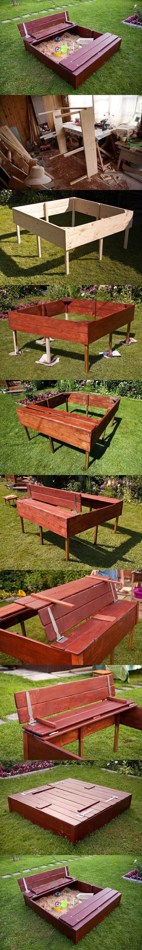 DIY Nice Sandbox for Kids 2