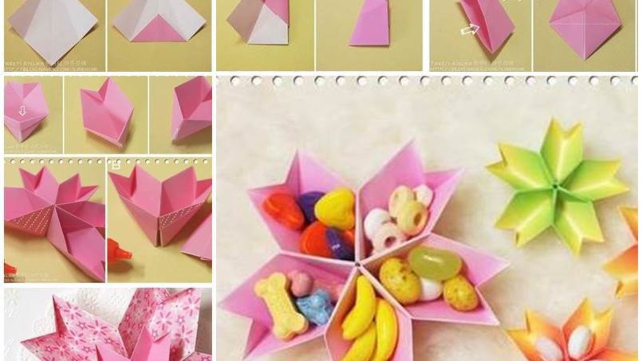 DIY Paper Flowers easy making tutorial (Origami Flower) - Paper ... | 720x1280