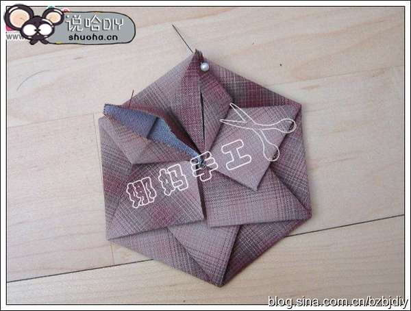 Diy Origami Lotus Flower Patchwork Handbag