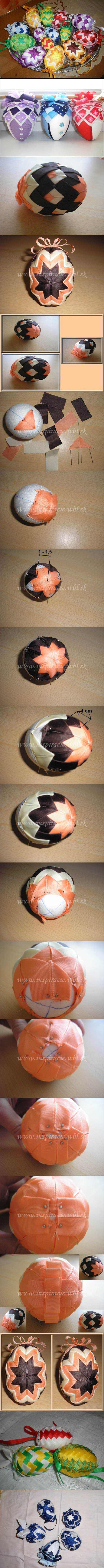 DIY Patchwork Decorated Easter Eggs 2