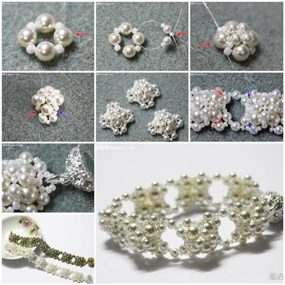 DIY Pearl Beaded Bracelet