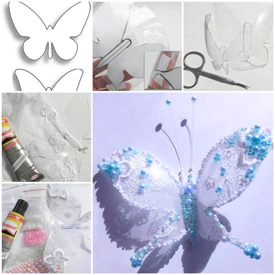 Diy beautiful butterfly from plastic bottle for Diy plastic bottle