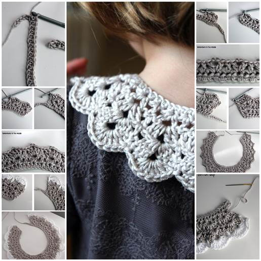 Very pretty! Crochet lace collar with pics and tutorial {i think i.