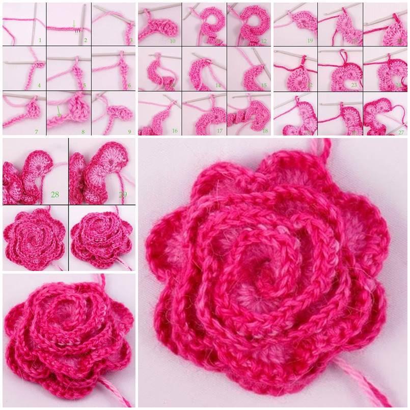 Diy Pretty Crochet Flower
