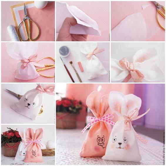 DIY Sewing Cute Easter Bunny Bag