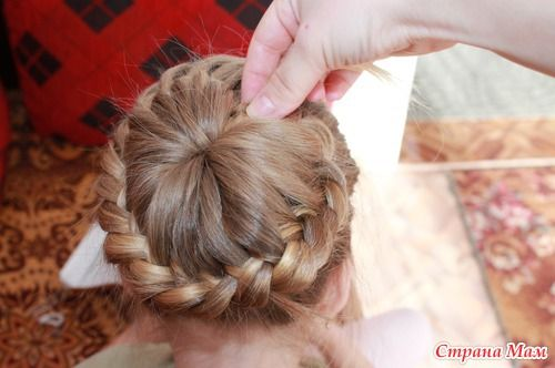 DIY Unique Braided Bun Hairstyle 10
