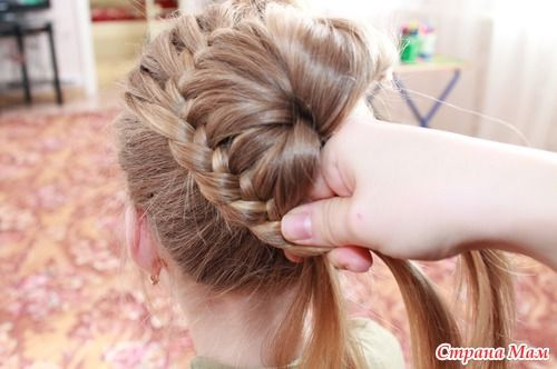 DIY Unique Braided Bun Hairstyle 7