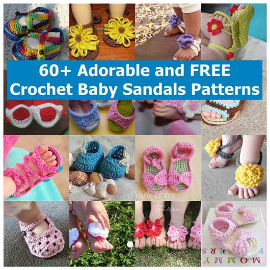 66a4e3a66 60+ Adorable and FREE Crochet Baby Sandals Patterns
