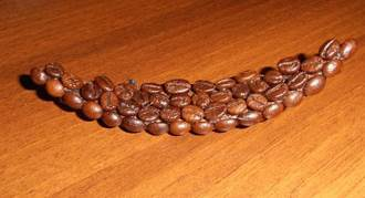 DIY 3D Coffee Cup Picture Decor with Coffee Beans step 11