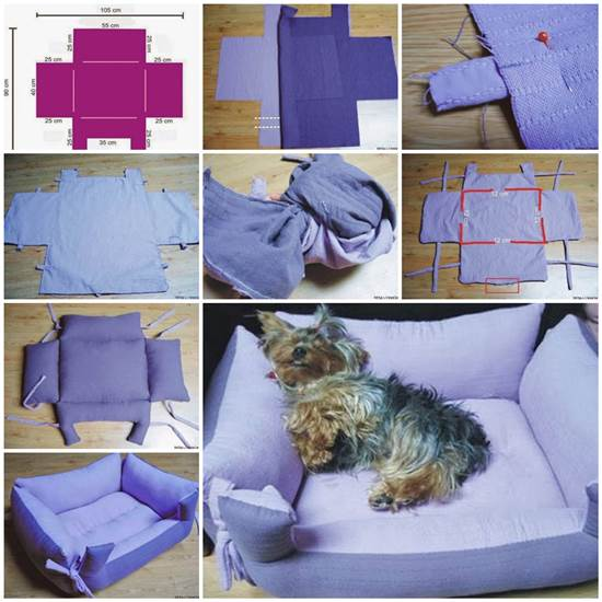 DIY Couch Pet Bed