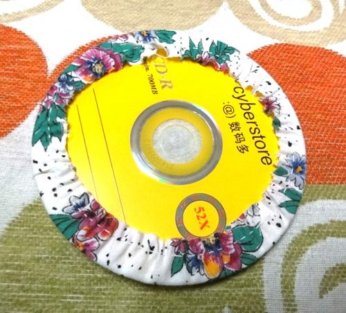 DIY Cute Little Storage Basket with Old CDs 9