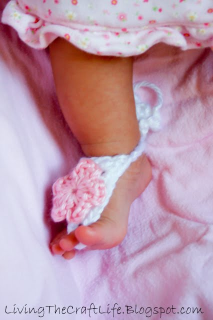 60+ Adorable and FREE Crochet Baby Sandals Patterns --> Baby Barefoot Sandals