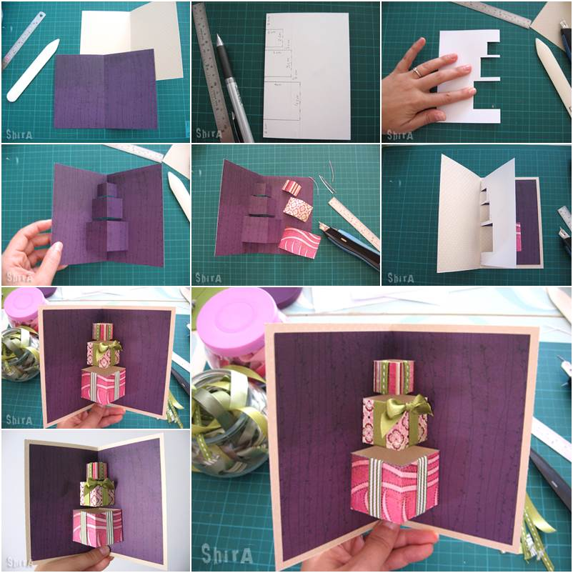 Creative Home Office Ideas: How To DIY 3D Gift Box Pop-up Card