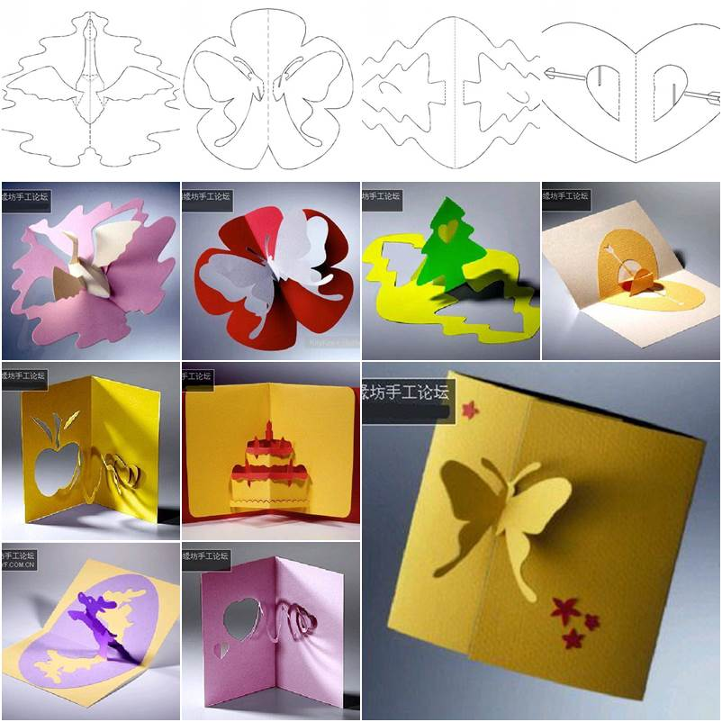 How to diy 3d kirigami greeting cards with templates m4hsunfo