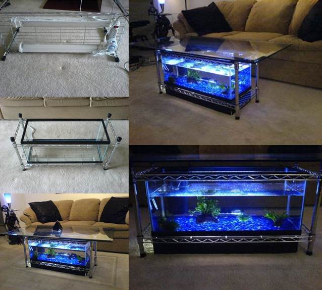 to diy aquarium coffee table