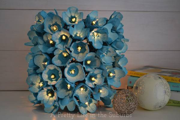 DIY Egg Carton Flower Lamp