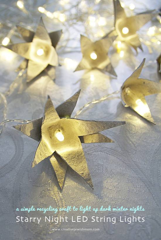 DIY Star String Lights Using Egg Cartons