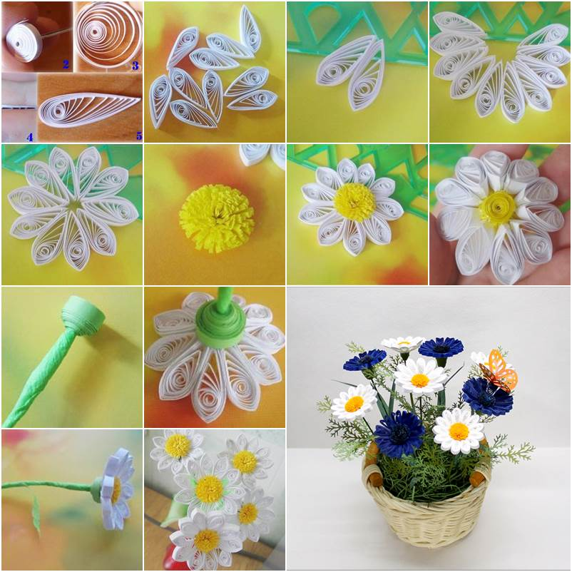 How to diy beautiful quilling chrysanthemum decoration for Quilling craft ideas