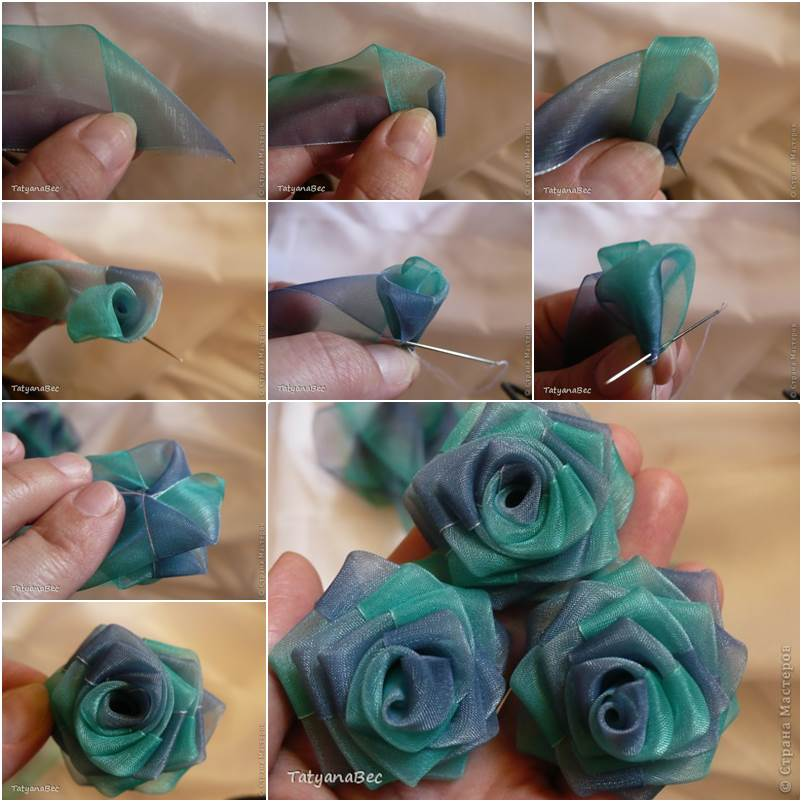 How to DIY Chiffon Ribbon Rosette