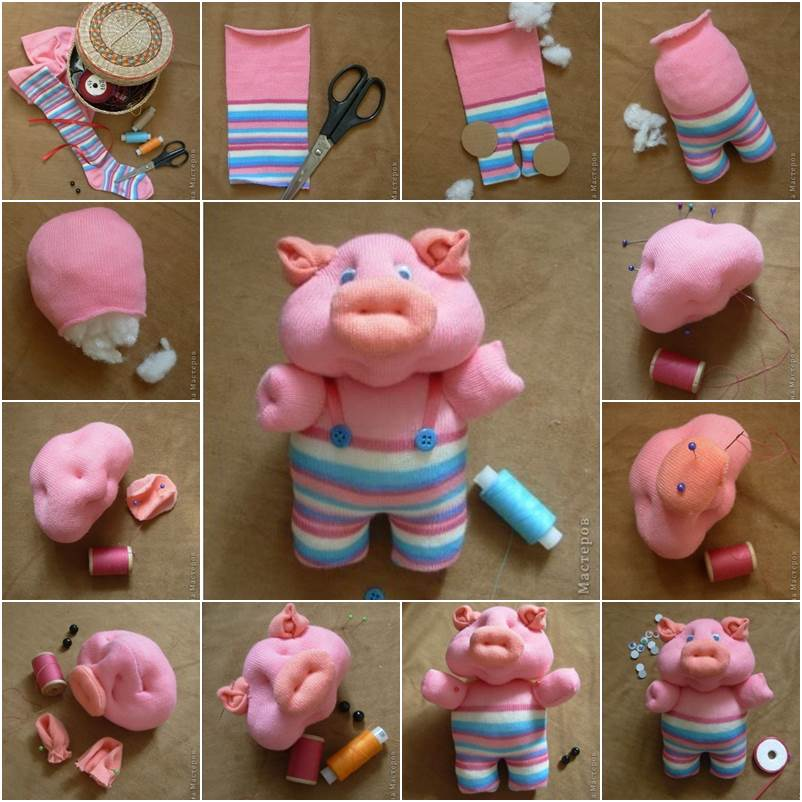 How to DIY Cute Sock Piglet