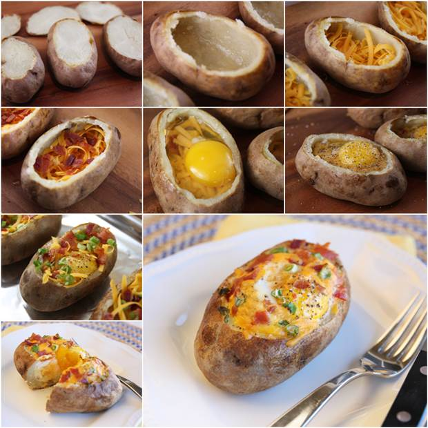 How to DIY Delicious Egg-Stuffed Baked Potatoes