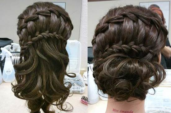 How To DIY Double Waterfall Braided Bun Hairstyle