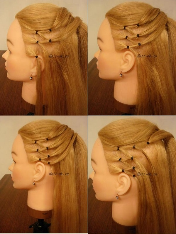 How to DIY High Ponytail with Side Mesh Hairstyle 2